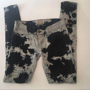 Current Elliott Moto Skinny Cloud Wash Jeans Sz 25